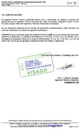 CERTIFICADO DE RUIDO PARA ACTIVIDADES